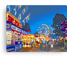 Carnival Midway at Twilight Canvas Print