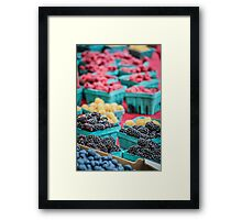 Fresh Berry Assortment Framed Print