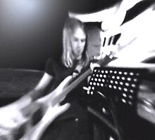 guitar player by cameraman