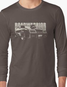 """MAD MAX Inspired Roadwarrior """"Wasted Edition""""   White Long Sleeve T-Shirt"""