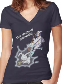 Yu-Gi-Oh! Where did Yami leave me now? Ryo Bakura  Women's Fitted V-Neck T-Shirt