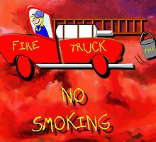 Red Fire Truck by Dennis Melling
