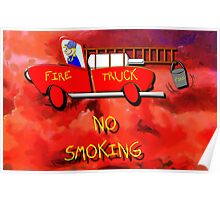 Red Fire Truck - all products Poster