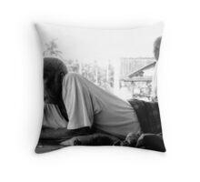 The Blind Man Throw Pillow