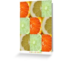 Citrus Cocktail Greeting Card
