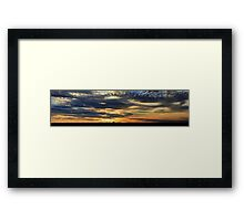 Thorny Croft's Paintbrush Sunset, Free state, South Africa Framed Print