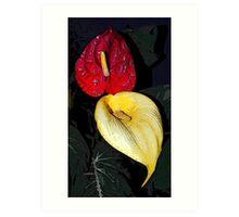 Yellow Flame  Art Print