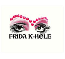 Frida K-Hole Eyes Art Print