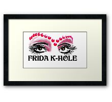 Frida K-Hole Eyes Framed Print