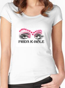 Frida K-Hole Eyes Women's Fitted Scoop T-Shirt