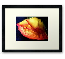 ...and Caring Framed Print