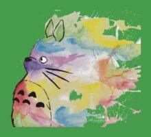 Rainbow Totoro One Piece - Short Sleeve