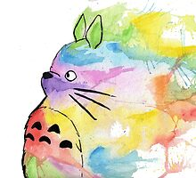 Rainbow Totoro by AAMurray
