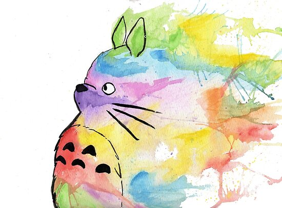 Rainbow Totoro by Alisha Murray