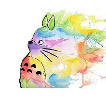 Rainbow Totoro Photographic Print