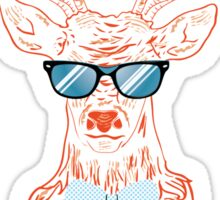 Deer hipster in glasses, hand drawn style Sticker