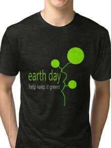 Lime Bubble Plant - Earth Day Tri-blend T-Shirt
