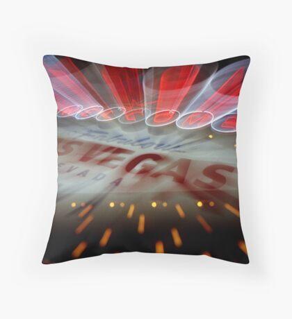 Vegas Sign No. 10 Throw Pillow