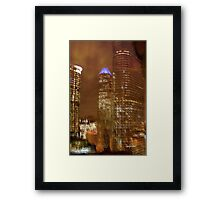 Houston Nights Framed Print