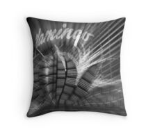 Vegas Lights in B&W No. 1 Throw Pillow