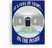 IT'S FULL OF STARS ON THE INSIDE Canvas Print
