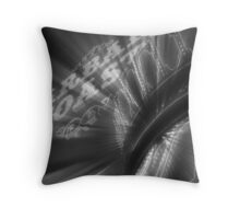 Vegas Lights in B&W No. 3 Throw Pillow