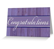 Rustic blue wood Congratulations card Greeting Card