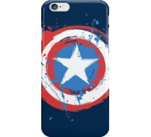 Captain America Shield Paint Splatter Design iPhone Case/Skin