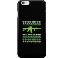 Funny AR-15 Ugly St. Patrick's Day Sweater T-Shirt and Gifts iPhone Case/Skin