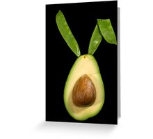 Green Hare Greeting Card