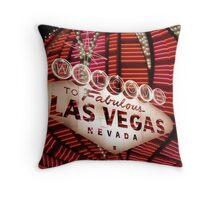 Vegas Sign No. 35 Throw Pillow