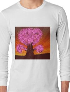 Fantasy tree of pink color Long Sleeve T-Shirt