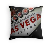 Vegas Sign No. 2 Throw Pillow