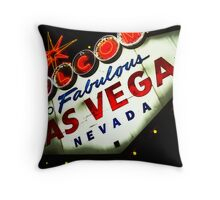 Vegas Sign No. 3 Throw Pillow
