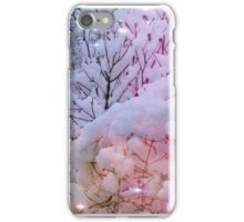 Snow laden trees with a bit of added magic! iPhone Case/Skin