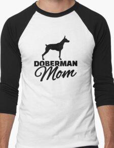 Doberman Mom Men's Baseball ¾ T-Shirt