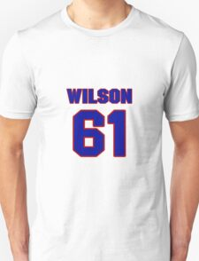 National baseball player Justin Wilson jersey 61 T-Shirt