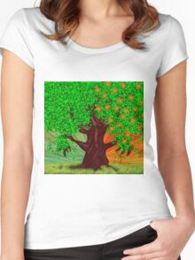Fantasy tree at spring and summer Women's Fitted Scoop T-Shirt