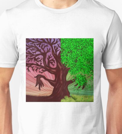 Tree with green leaves and leafless Unisex T-Shirt