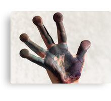painted  hand Canvas Print