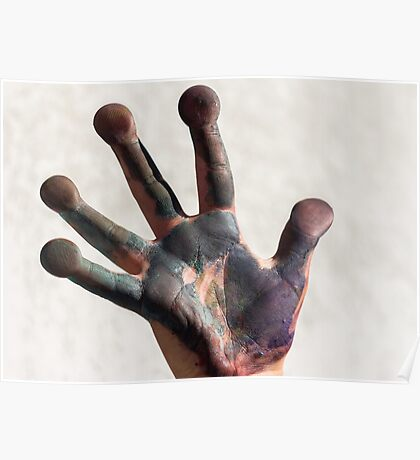 painted  hand Poster
