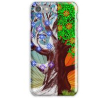 Big tree winter and summer seasons iPhone Case/Skin