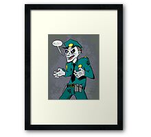 Vampire cop Framed Print