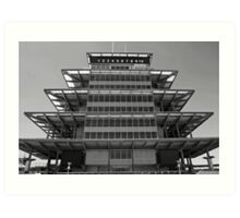 The Indianapolis Motor Speedway-Bombardier Lear Pagoda Art Print