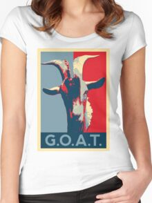 G.O.A.T. - GOAT - Greatest of all time Women's Fitted Scoop T-Shirt