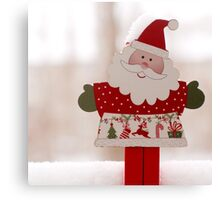 Santa toy, close up Canvas Print