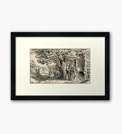 Family on a Sunday, the Day of Rest Framed Print