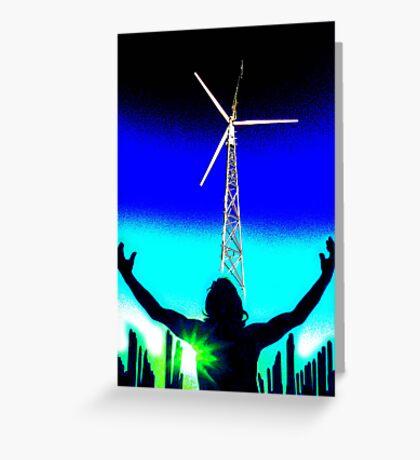 Spirit of the sky ... send us wind !!! Greeting Card