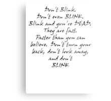 Don't Blink Metal Print