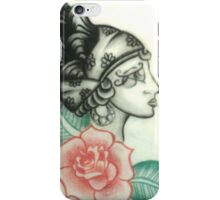 Illustration no.1 Gypsy Head with Rose iPhone Case/Skin